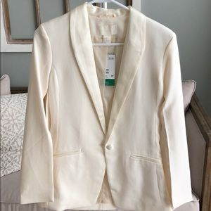 H&M Ivory blazer with cape sleeves